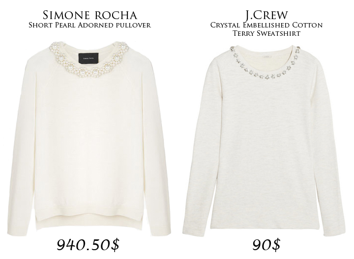 High-End vs. Street-End: Embellished Sweater