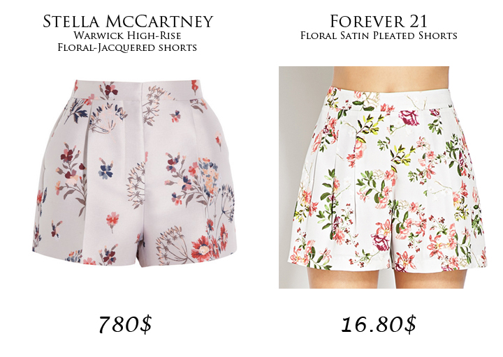 High-End vs. Street-End: Floral High-Waisted Shorts