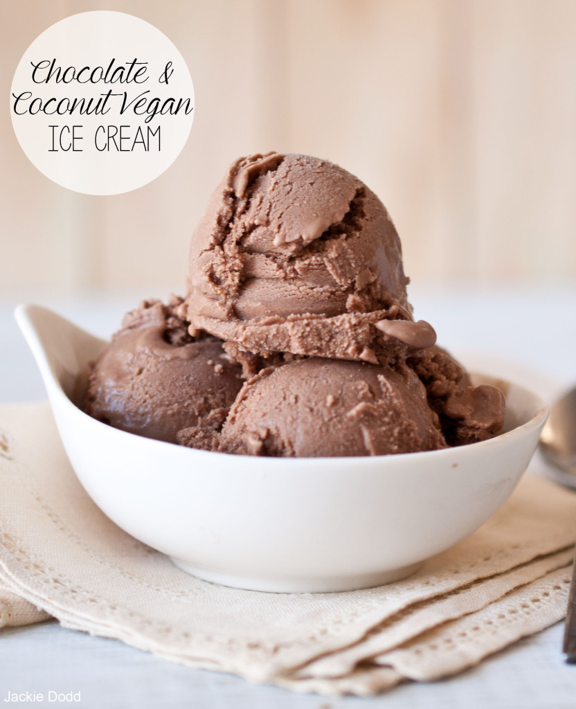 Chocolate Coconut Vegan Ice Cream