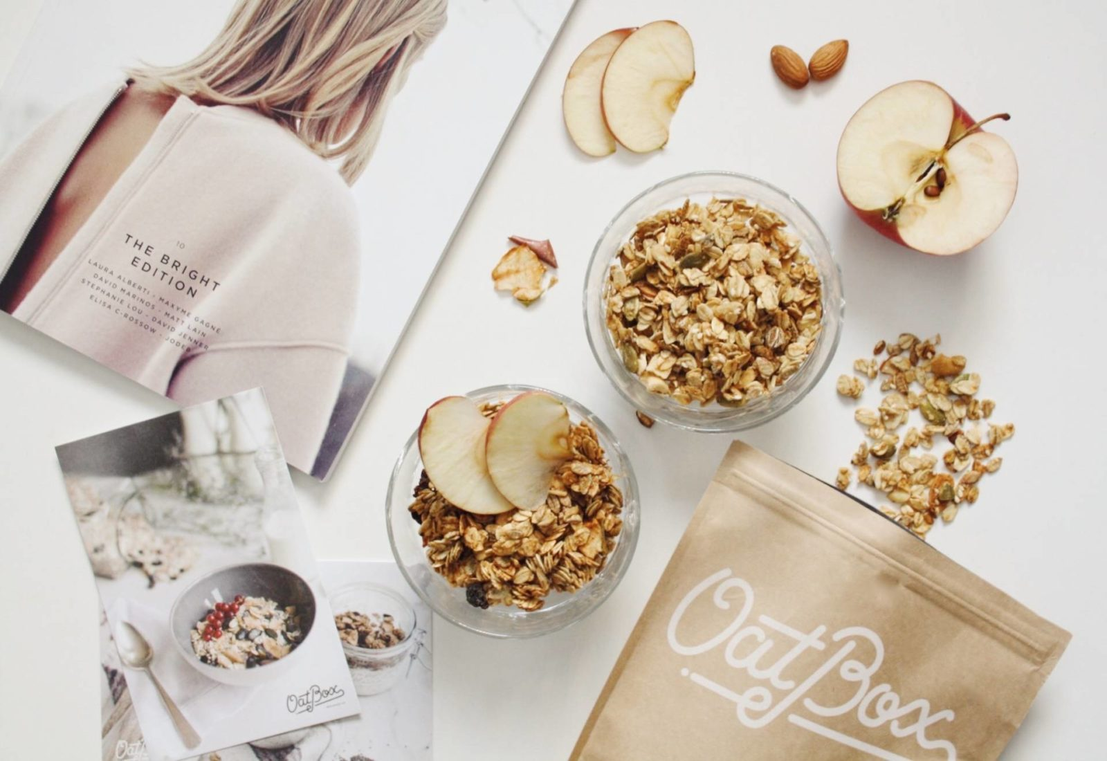 Healthy and tasty breakfast with Oatbox