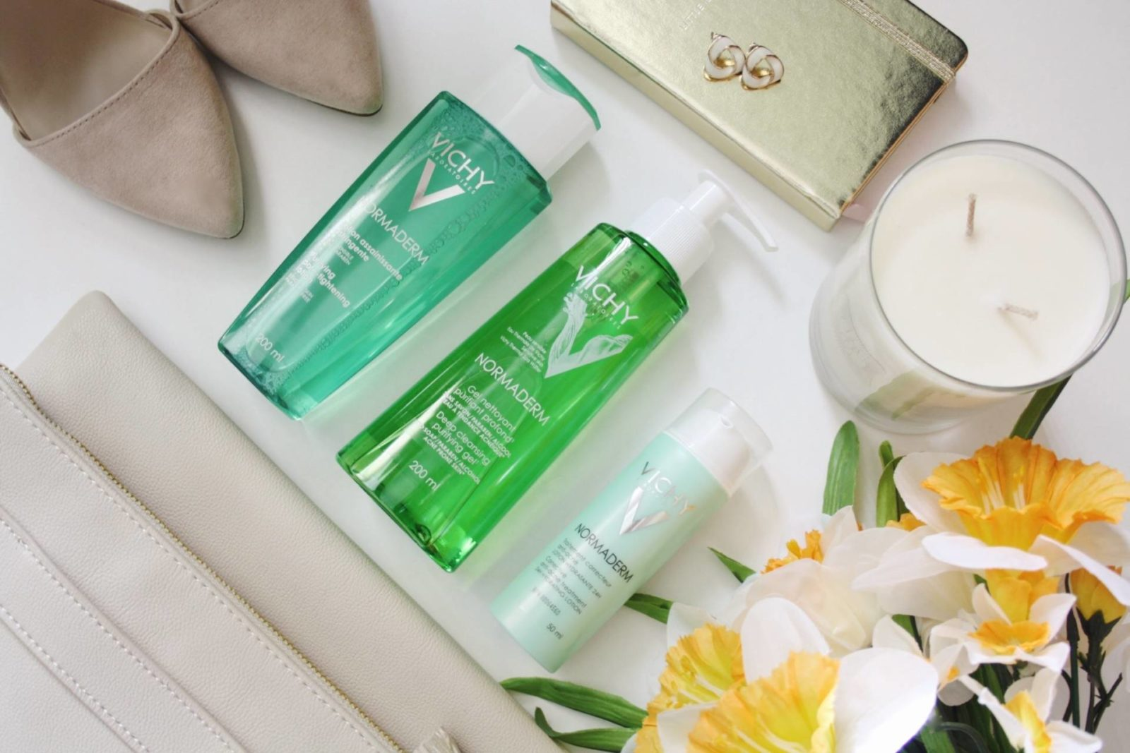 Spring Skincare Routine with Vichy Complete Normaderm Line